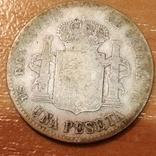 Испания 1 песета 1903 г. Альфонсо 13-й, фото №3