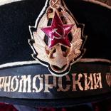 """Безкозырка с гюйсом """"Краснознаменный Черноморский Флот"""" (СССР), фото №5"""