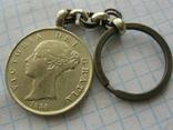 Брелок з копією монети королеви Вікторії, фото №2