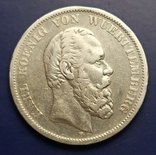 5 марок 1876 р. Вюртемберг, фото №2