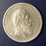 5 марок 1876 р. Вюртемберг, фото №3
