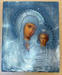 Пара венчальных икон в серебряном окладе, фото №4