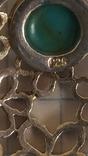 Кулон с берюзой серебро 925, фото №7