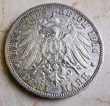 3 марки вюртемберг 1914, фото №3