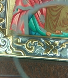 Копия,икона Византийская божья матерь, в серебряном окладе 925 пробы, фото №5