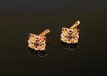 Золото Золотые серьги Женские серёжки 585, фото №6