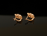 Золото Золотые серьги Женские серёжки 585, фото №9