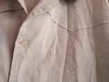Мужская льянная сорочка с накладными карманами,вышитым воротником ,на пуговицах. СССР., фото №7