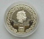 Токелау, 2012, 5 долларов, стрекоза, серебро, фото №4