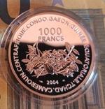 Западная Африка 1000 франков 2004 г. Серебро. Чемпионат мира по футболу в Германии 2006 г., фото №2
