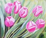 Картина, Тюльпановые фантазии, 25х30 см. Живопись на холсте, фото №2