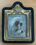 Икона Богородицы в серебряном окладе 84 пробы, фото №2