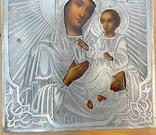 Икона Богородицы в серебряном окладе 84 пробы, фото №8