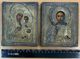Венчальная пара икон в окладе 84 пробы, фото №2