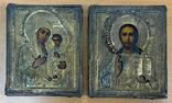 Венчальная пара икон в окладе 84 пробы, фото №3
