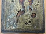 Венчальная пара икон в окладе 84 пробы, фото №6