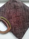 Сумка из соломки с вышивкой TU, фото №3