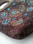 Сумка из соломки с вышивкой TU, фото №5