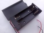Батарейный отсек под два элемента 18650 закрытого типа с отключением., фото №2