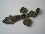 Большой нательный крестик серебро 925, фото №3