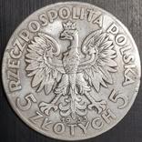 5 злотых 1933 год Ядвига, фото №2