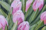 Картина, Розовые тюльпаны, 25х30 см. Живопись на холсте, фото №6