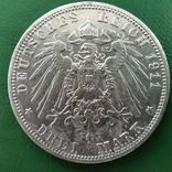 3 марки Пруссія 1911р., фото №2