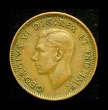 Канада цент 1947 кленовый лист после года, фото №3