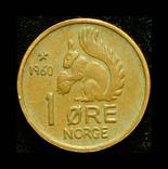 Норвегия 1 эре 1960, фото №2
