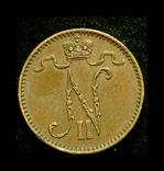 Финляндия 1 пенни 1903 редкий год, фото №3