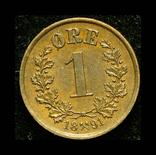 Норвегия 1 эре 1891 aUnc, фото №3