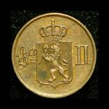 Норвегия 1 эре 1891 aUnc, фото №2