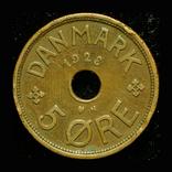Дания 5 эре 1928, фото №2