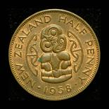 Новая Зеландия 1/2 пенни 1958 Unc, фото №2
