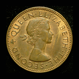 Новая Зеландия 1/2 пенни 1958 Unc, фото №3