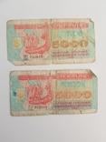 Купоно-карбованцы 5000 - 2шт, фото №2