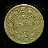 Индия Барода пайса 1886, фото №2