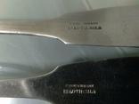 Дві великі срібні ложки Європа, фото №4