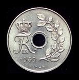Дания 25 эре 1969, фото №3
