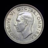 Великобритания шиллинг 1945 Unc серебро, фото №3