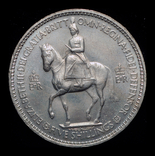 Великобритания крона 1953  Коронация, фото №3