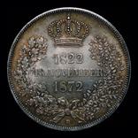Саксония двойной талер 1872 серебро, фото №3