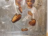 Икона. Смоленская Божья Матерь. Серебряный оклад. Мастер Семён Галкин 1896 год, фото №5