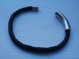 Мужской кожаный браслет Liora., фото №9