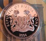 Сьерра-Леоне 10 долларов 2004 г. Футбол Серебро. Пруф, фото №3