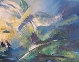 Абстрактная живопись на холсте №2, фото №4