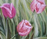 Картина, Тюльпаны, 25х30 см. Живопись на холсте, фото №4