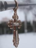 Стандартный нательный крест . Серебро золочение. Новый., фото №4