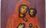 Ікона Тихвінська Богородиця, 22,0х17,7 см, фото №5