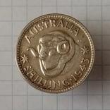"""1 шиллинг 1943г без бук. """"S"""" Австралия серебро, фото №2"""